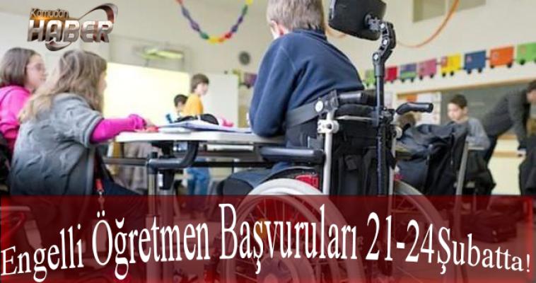 Şubat 2017 Engelli Öğretmen Atama Başvurusu