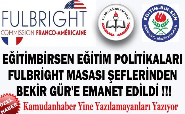 Fulbright Masası Şefi Bekir S. GÜR , Eğitimbirsen'in Müfredat Raporunu Hazırlamış