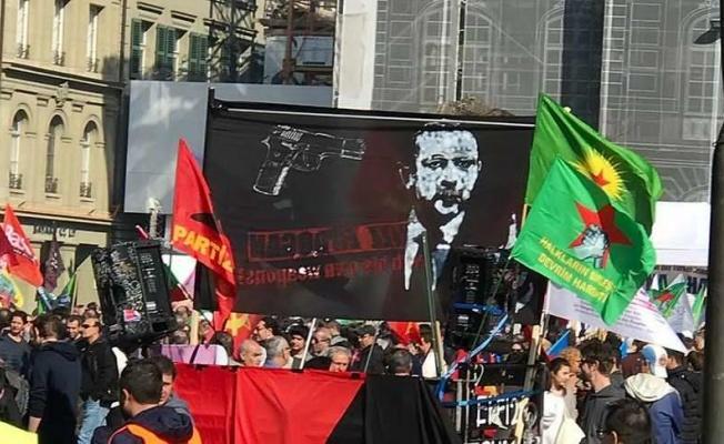 İsviçre'de Terör örgütü, Erdoğan'ı hedef gösterdi