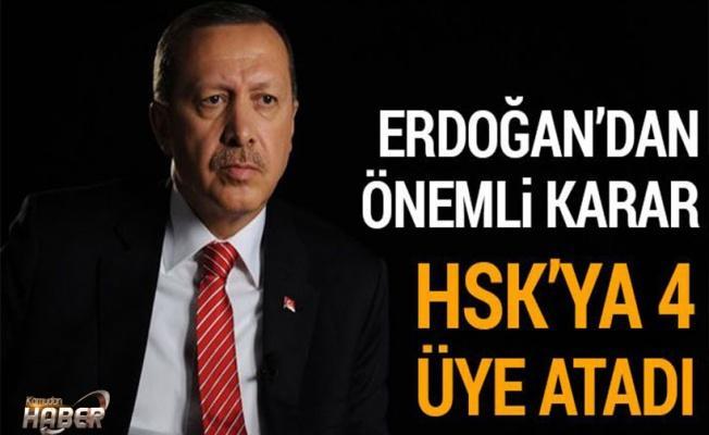 Cumhurbaşkanı HSK'ya 4 kişiyi atadı