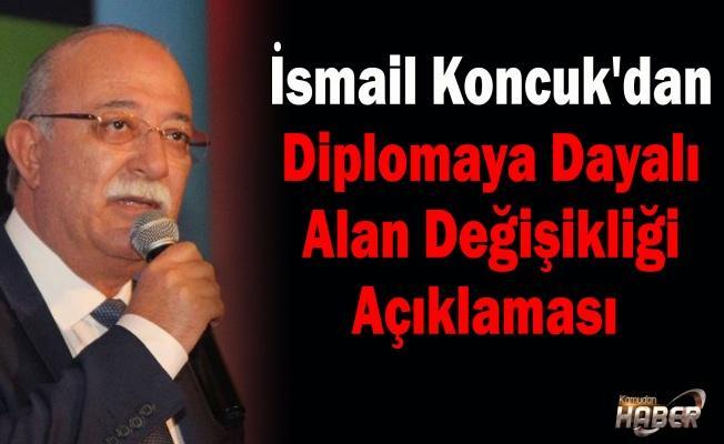 İsmail Koncuk'dan Diplomaya Dayalı Alan Değişikliği Açıklaması