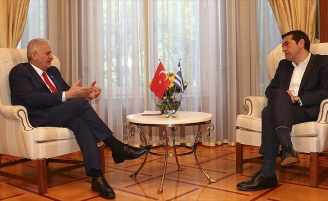 Başbakan Yıldırım'ın Yunan mevkidaşı Çipras ile görüşmesi başladı