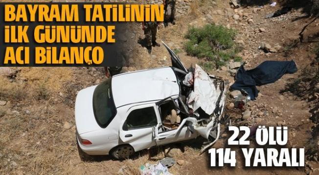 Ramazan Bayramı tatilinin ilk gününde ağır bilanço: 22 ölü 114 yaralı