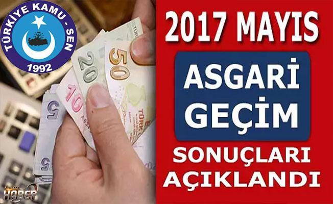 Türkiye Kamu-Sen, Mayıs Asgari Geçim Sonuçlarını açıkladı.