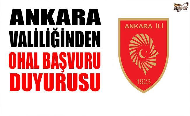 Ankara Valiliği, OHAL başvurularıyla ilgili duyuru yaptı