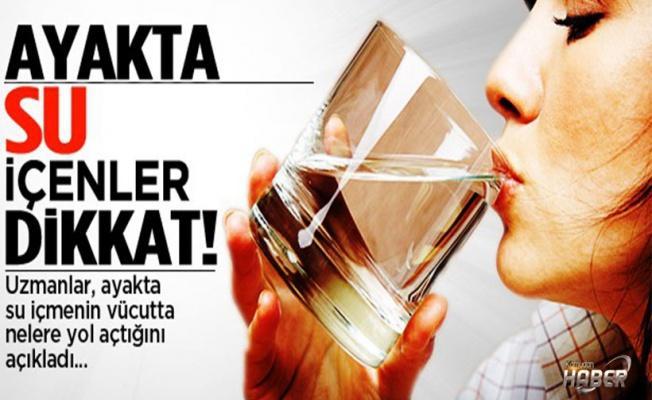 Ayakta su içme konusunun bilimsel gerçeği