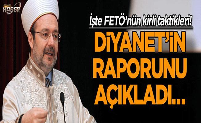 Diyanet İşleri Başkanı Mehmet Görmez'den FETÖ Raporu!