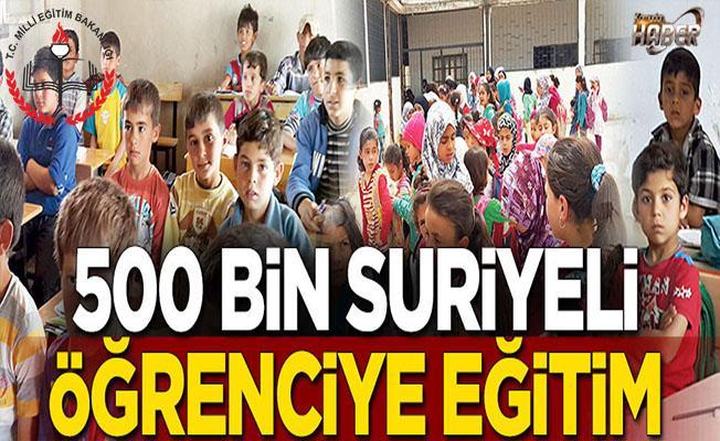 Hayat Boyu Öğrenme Genel Müdürü Altunel: 500 bin Suriyeli öğrenciye eğitim