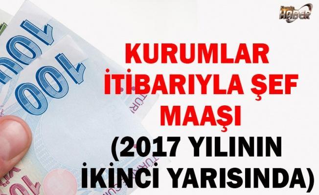 KURUMLAR İTİBARIYLA ŞEF MAAŞI (2017 YILININ İKİNCİ YARISINDA)