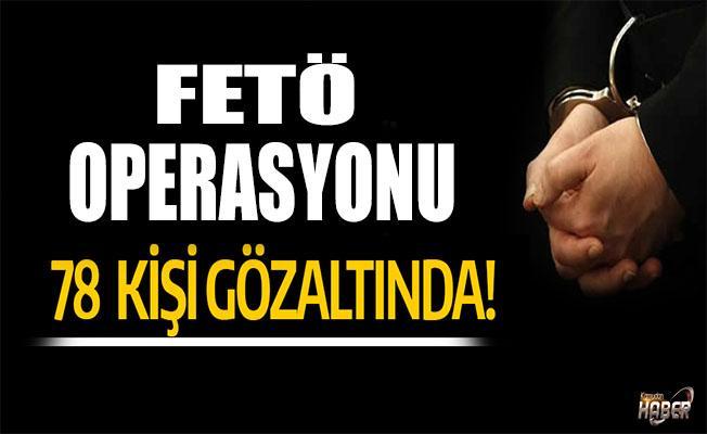 Manisa'da FETÖ operasyonu: 78 gözaltı