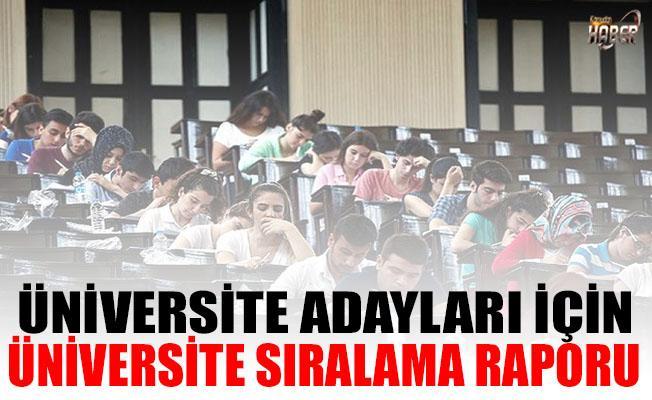 ODTÜ'den Üniversite adayları için üniversite sıralama raporu!