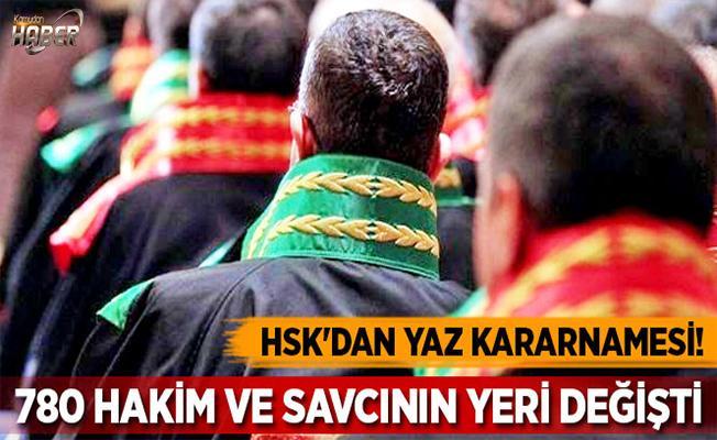 Yaz kararnamesi ile HSK'dan 780 hakim ve savcının yeri değişti