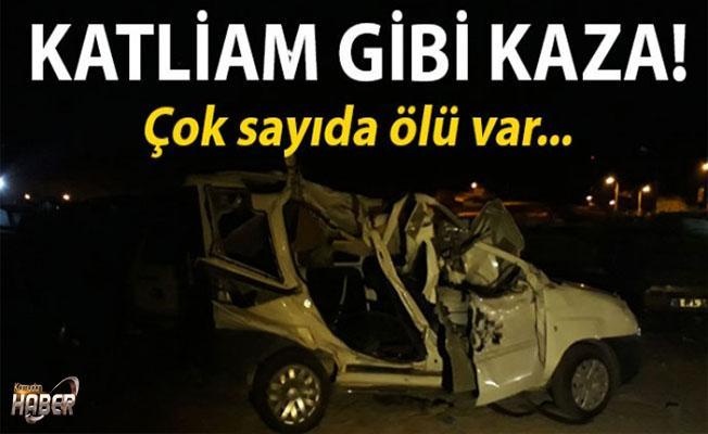 Ankara'da düğün dönüşü katliam gibi trafik kazası!