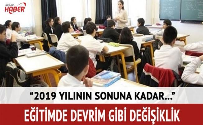 Bakan Yılmaz: 2019 yılı sonuna kadar ikili eğitimi kaldıracağız
