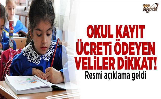 İstanbul Milli Eğitim Müdürü Faruk Yelkenci: Okul idarelerimiz kayıt ücreti alamaz