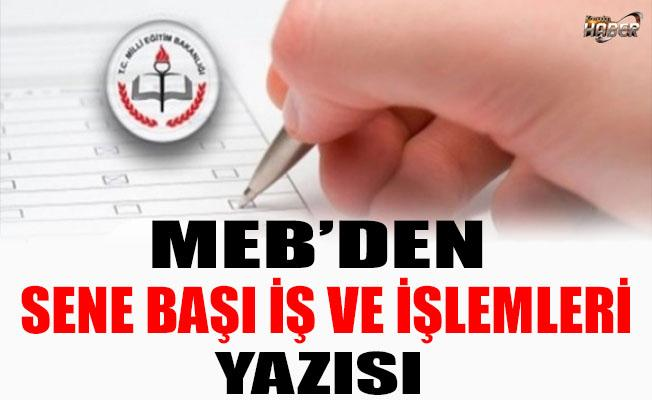 SENE BAŞI İŞ VE İŞLEMLERİ RESMİ YAZISI!