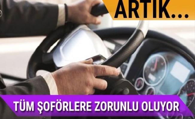 Tüm şoförlere yeterlilik belgesi zorunlu oluyor