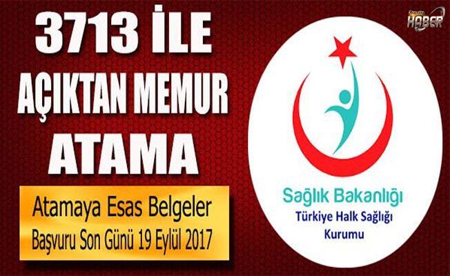 Türkiye Halk Sağlığı Kurumu'nun Memur Atama Duyurusu