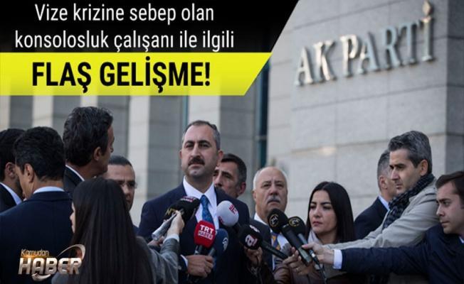 Adalet Bakanından vize krizi ile ilgili açıklama