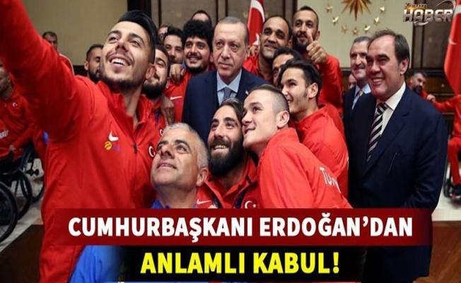 Cumhurbaşkanı Erdoğan'dan anlamlı kabul!
