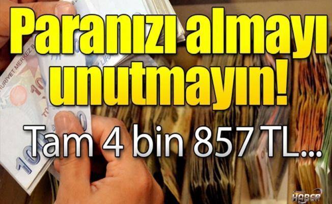 Anneye 4 bin 857 TL veriliyor