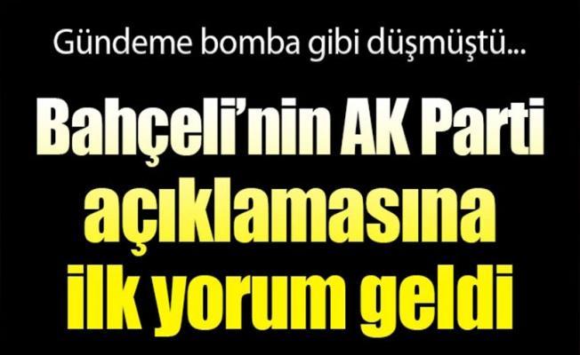 Bahçeli'nin 'AK Parti' çıkışına ilk yorum Mahir Ünal'dan geldi