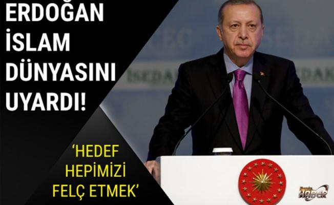 Erdoğan İslam dünyasını uyardı: Hedef hepimizi felç etmek