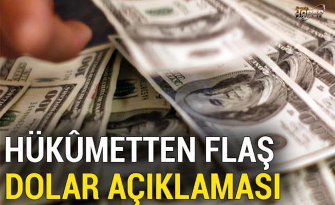 Hükûmetten dolar açıklaması
