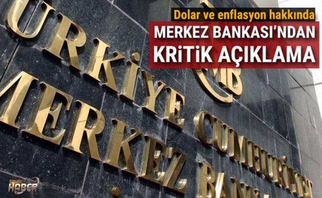 Merkez Bankasından enflasyon ve dolar açıklaması