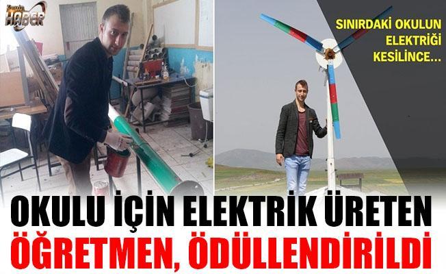 Okuluna Elektrik üreten Öğretmen Ödüllendirildi