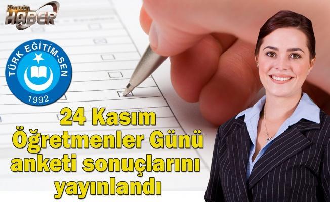 Türkiye Kamu-Sen ve Türk Eğitim-Sen Genel Başkanı İsmail Koncuk, 24 Kasım Öğretmenler Günü anketinin sonuçlarını açıkladı.