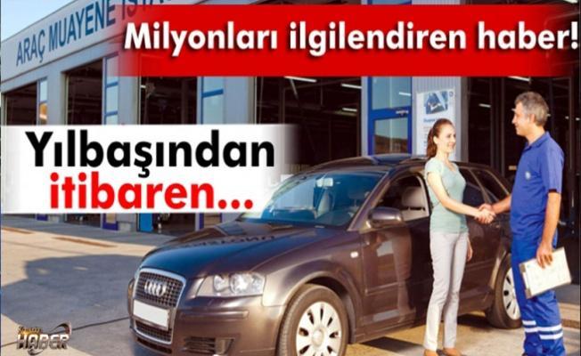 Araç muayene ücretleri yüzde 14 artacak