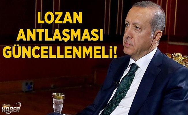 Cumhurbaşkanı Erdoğan'dan flaş Lozan Antlaşması açıklaması