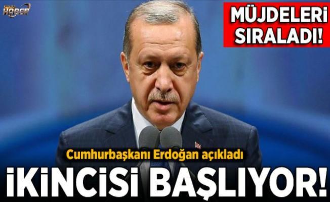 Cumhurbaşkanı Erdoğan, yeni müjdeleri açıkladı