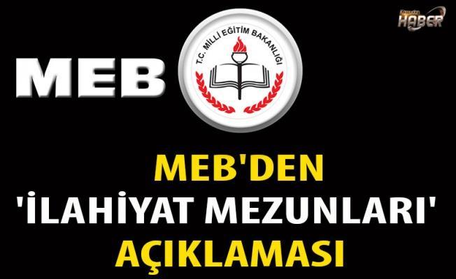 MEB'den 'İlahiyat mezunları' açıklaması