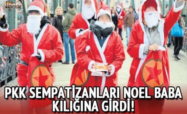 PKK'nın sempatizanları Noel Baba kılığına girerek propaganda yaptı