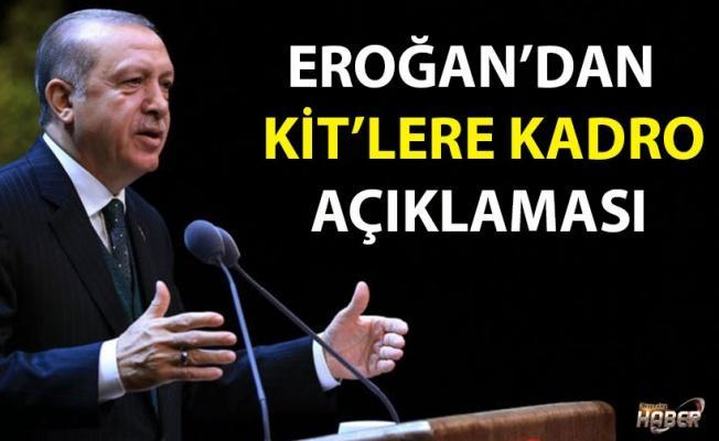 Erdoğan'dan KİT'lere kadro açıklaması