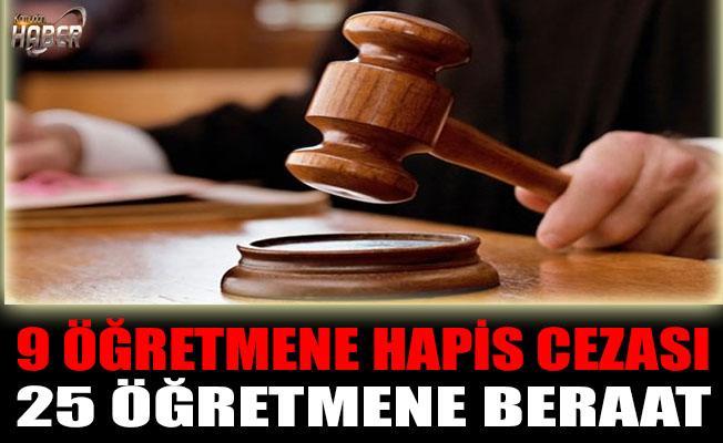 FETÖ'den 9 öğretmene hapis cezası
