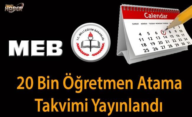 20 Bin Öğretmen Atama Takvimi Yayınlandı