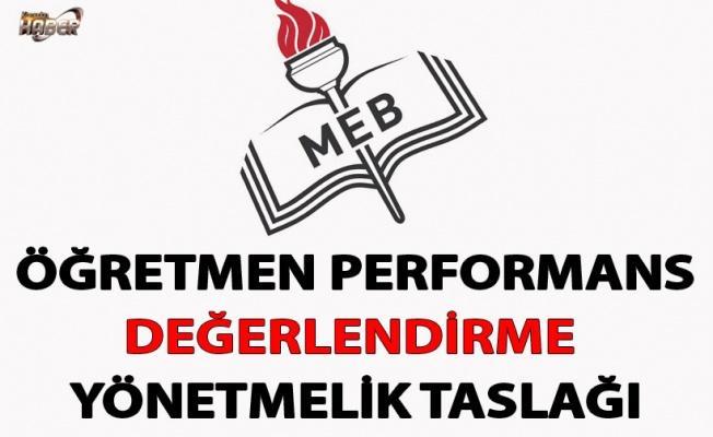 MEB, Öğretmen Performans Değerlendirme Yönetmelik Taslağını, görüşe açtı