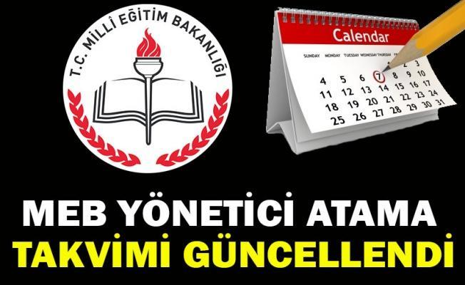MEB Yönetici Atama Takvimi Güncellendi (2018)