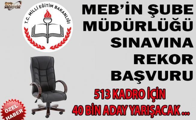 MEB'DE ŞUBE MÜDÜRLÜĞÜ SINAVINA REKOR BAŞVURU