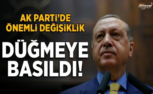 AK Parti'de çok önemli değişiklik!