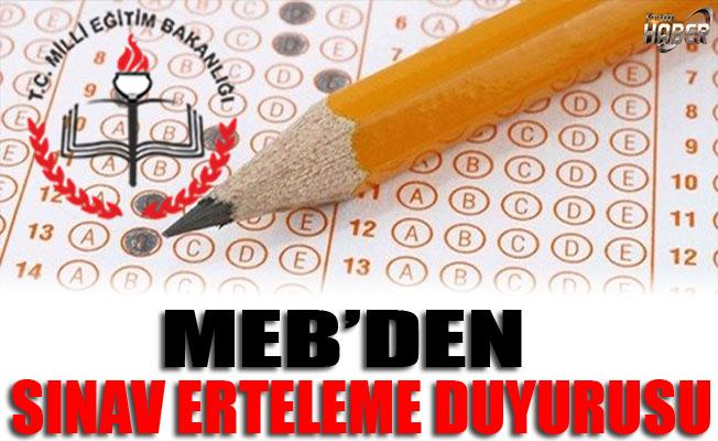 MEB'den Sınav Erteleme Hakkında Resmi Yazı!
