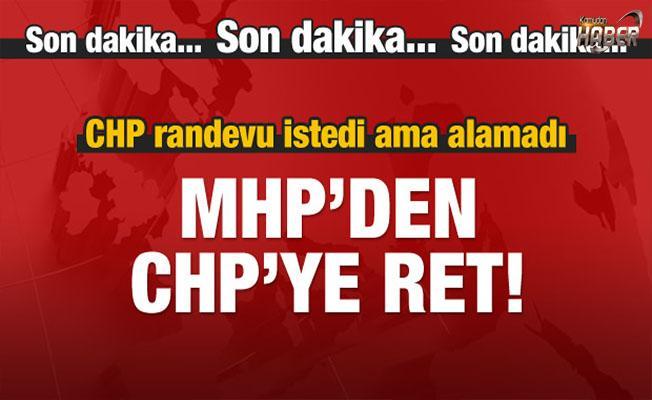 MHP, CHP'nin randevu talebini reddetti.