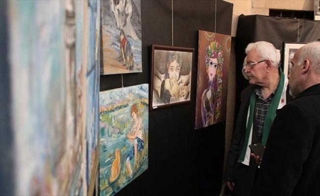 'Savaşın Mağduru Suriyeli Sanatçılar Resim Sergisi' açıldı