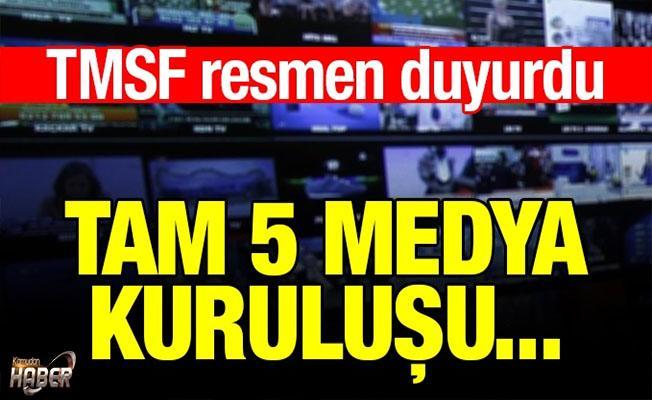 TMSF, 5 medya kuruluşunu satışa çıkardı