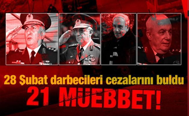 28 Şubat davasında karar: 21 müebbet, 68 beraat