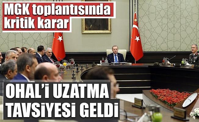 Beştepe'de Milli Güvenlik Kurulu toplantısı sona erdi