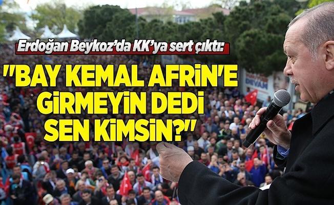 Cumhurbaşkanı Erdoğan Beykoz'da konuştu .